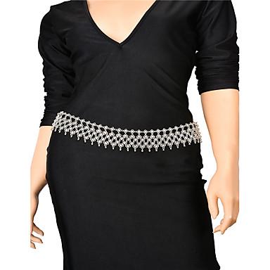 سلسلة الجسم / سلسلة البطن - للمرأة فضي مصنوع يدوي موضة دمعة مجوهرات الجسم  من أجل حزب مناسبة خاصة فضفاض