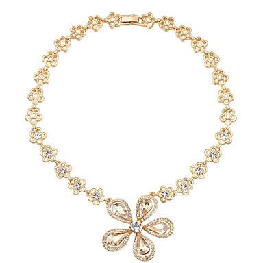 Naisten Riipus-kaulakorut Kristalli Flower Shape Yksilöllinen Uniikki Korut Käyttötarkoitus Syntymäpäivä