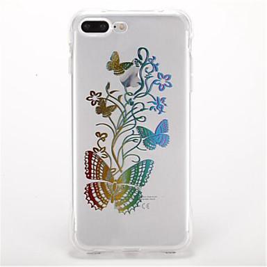 Maska Pentru Apple Anti Șoc Placare Model Carcasă Spate Fluture Moale TPU pentru iPhone 7 Plus iPhone 7 iPhone 6s Plus iPhone 6 Plus