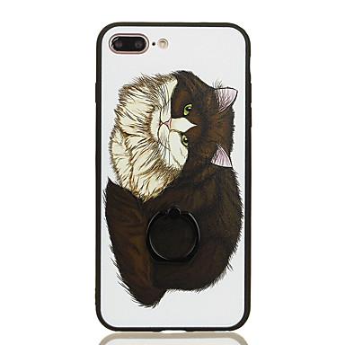 Για Βάση δαχτυλιδιών Με σχέδια tok Πίσω Κάλυμμα tok Γάτα Σκληρή PC για Apple iPhone 7 Plus iPhone 7