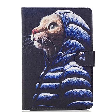 Για Θήκη καρτών Πορτοφόλι με βάση στήριξης Ανοιγόμενη Με σχέδια tok Πλήρης κάλυψη tok Γάτα Σκληρή Συνθετικό δέρμα για AppleiPad Mini 4