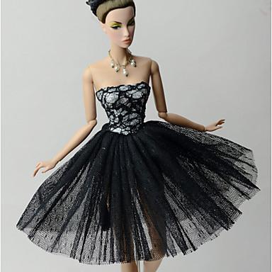 Księżniczka Sukienki Dla Lalka Barbie Koronka Organza Ubierać Dla Dziewczyny Lalka Zabawka