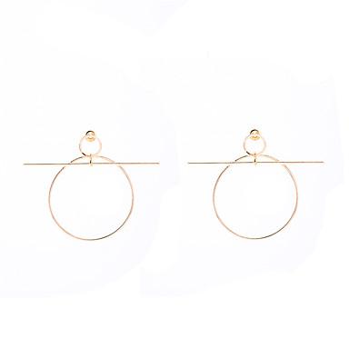 للمرأة أقراط تتدلى مجوهرات مخصص تصميم دائري موضة euramerican في بيان المجوهرات أوروبي نحاس Circle Shape مجوهرات يوميا فضفاض