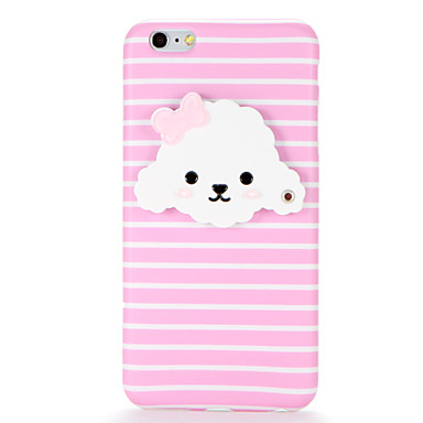 Için IMD Ayna Kendin-Yap Pouzdro Arka Kılıf Pouzdro Köpek Yumuşak TPU için AppleiPhone 7 Plus iPhone 7 iPhone 6s Plus iPhone 6 Plus