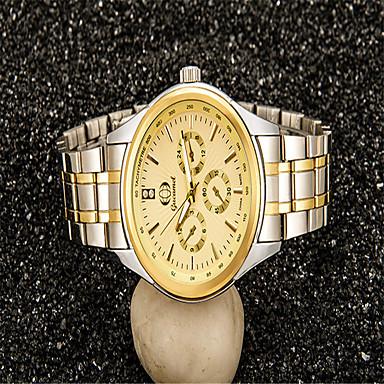 Bărbați Ceas La Modă Quartz Aliaj Bandă Casual Argint Auriu