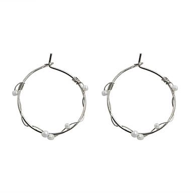 Dame Cercei Picătură Design Circular Perle La modă Euramerican Perle Aliaj Circle Shape Geometric Shape Bijuterii Pentru Nuntă Petrecere