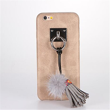 Pouzdro Uyumluluk Apple iPhone 7 Plus iPhone 7 Kendin-Yap Arka Kapak Tek Renk Sert PU Deri için iPhone 7 Plus iPhone 7 iPhone 6s Plus