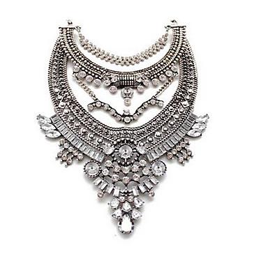 Pentru femei Coliere cu Pandativ Coliere imitație de diamant Piatră Preţioasă La modă Vintage Euramerican Floral Bijuterii Pentru