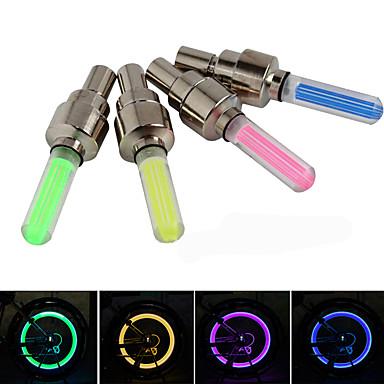 LED Bike Light Valve Cap Flashing Lights Wheel Lights