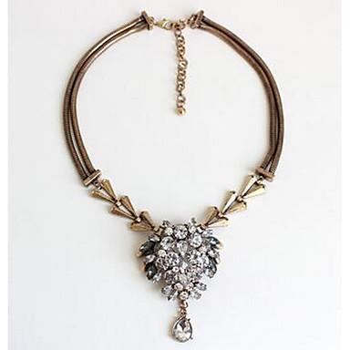 للمرأة قلائد الحلي القلائد بيان لؤلؤ تقليدي الماس الاصطناعية الأحجار الكريمة الاصطناعية كروم حجر الراين موضة عتيقة euramerican في مجوهرات