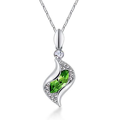 Kadın's Uçlu Kolyeler Kristal Eşsiz Tasarım Aşk Kalp Mücevher Uyumluluk Düğün Parti Doğumgünü