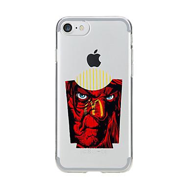 Için Şoka Dayanıklı Şeffaf Pouzdro Arka Kılıf Pouzdro Oynanan Apple Logosu Yumuşak TPU için AppleiPhone 7 Plus iPhone 7 iPhone 6s Plus