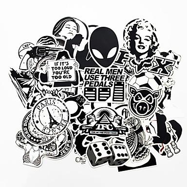 زيكياو 100 قطع أبيض وأسود بارد دي ملصقات لل سيارة سكيت محمول الأمتعة الثلاجة الثلاجة الهاتف لعبة التصميم ملصقات ديكور المنزل