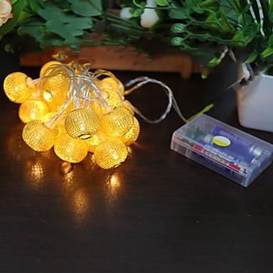 1pc su geçirmez led şerit 2m 20led lamba sıcak beyaz açık dekorasyon dize ışıkları için