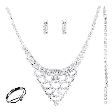 Pentru femei Seturi de bijuterii Modă Euramerican Nuntă Petrecere Zilnic Casual Altele Inele 1 Colier 1 Pereche de Cercei 1 Brățară