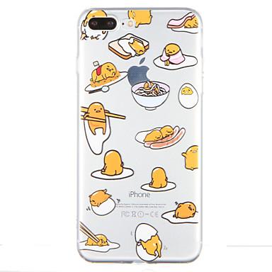 Varten Läpinäkyvä Kuvio Etui Takakuori Etui Piirros Pehmeä TPU varten AppleiPhone 7 Plus iPhone 7 iPhone 6s Plus iPhone 6 Plus iPhone 6s