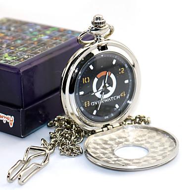 Zegar/zegarek Zainspirowany przez Overwatch Death the Kid Anime Akcesoria do Cosplay Zegar/zegarek Metal