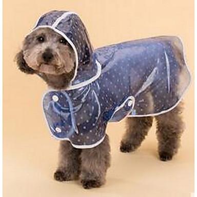Σκύλος Αδιάβροχο Πάλτο Ρούχα για σκύλους Χαριτωμένο Πουά Μπλε Ροζ Στολές Για κατοικίδια