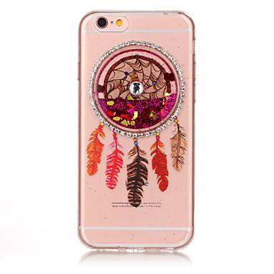 Για Στρας Ρέον υγρό Ανάγλυφη Με σχέδια tok Πίσω Κάλυμμα tok Ονειροπαγίδα Μαλακή TPU για AppleiPhone 7 Plus iPhone 7 iPhone 6s Plus iPhone