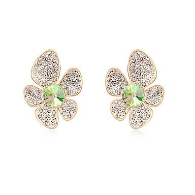 Damskie Kolczyki na sztyft Kryształ Spersonalizowane Kwiatowy Kwiat Kwiaty Słodkie Style euroamerykańskiej Flower Shape Biżuteria Na Ślub