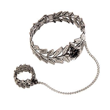 Kadın's Yüzük Bileklikler Mücevher Moda Eski Tip Punk Tarzı Değerli Taş alaşım Geometric Shape Mücevher Uyumluluk Özel Anlar