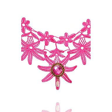 Pentru femei Coliere Choker Oval Shape Crown Shape Dantelă La modă Turcă Clasic Negru Roz Bijuterii PentruNuntă Petrecere Ocazie specială