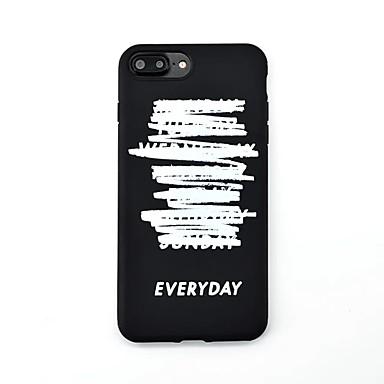 Varten Kuvio Etui Takakuori Etui Sana / lause Pehmeä TPU varten Apple iPhone 7 Plus iPhone 7 iPhone 6s Plus iPhone 6s