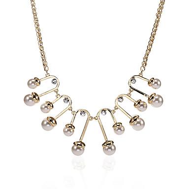 Pentru femei Geometric Shape Design Unic Stil Logo Stil Atârnat Coliere cu Pandativ Imitație de Perle Perle Aliaj Coliere cu Pandativ .