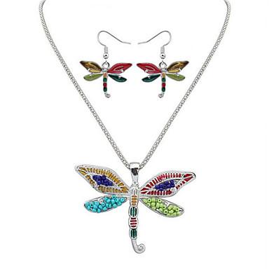Damskie Biżuteria Ustaw 1 Naszyjnik / 1 parę kolczyków - Unikalny / Wiszący / Artystyczny Zwierzę Gold / Silver Zestawy biżuterii Na