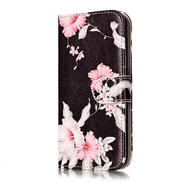 Etui Käyttötarkoitus Samsung Galaxy J7 (2016) J5 (2016) Lomapkko Korttikotelo Tuella Flip Kuvio Kokonaan peittävä Kukka Kova PU-nahka
