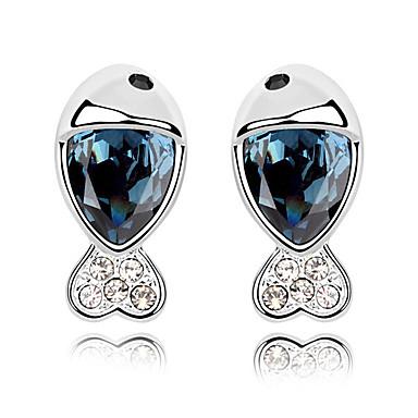 Kadın's Vidali Küpeler Kristal Kişiselleştirilmiş Hayvan Tasarımı Moda Euramerican Mücevher Düğün Parti Doğumgünü