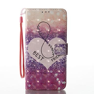 غطاء من أجل Samsung Galaxy S8 Plus S8 محفظة حامل البطاقات مع حامل قلب نموذج مغناطيس كامل الجسم قلب قاسي جلد اصطناعي إلى S8 S8 Plus S7