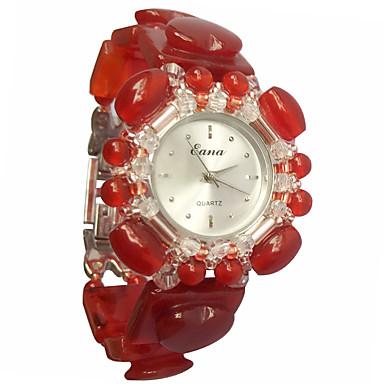 Pentru femei Ceas La Modă Ceas Brățară Quartz Jade Bandă Roșu