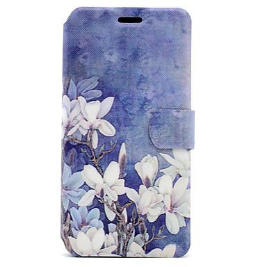 إلى حامل البطاقات مع حامل قلب مغناطيس نموذج غطاء كامل الجسم غطاء زهور قاسي جلد اصطناعي إلى Huawei Huawei P10 Huawei P8 Lite (2017)
