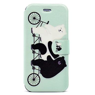 Kılıf Na iPhone 7 Plus iPhone 7 Apple Etui na karty Z podpórką Flip Magnetyczne Wzór Pełne etui Panda Zwierzę Twarde Skóra PU na iPhone 7
