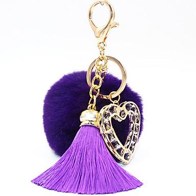 مفتاح سلسلة ألعاب مفتاح سلسلة دائري قلب معدن 1 قطع للجنسين كريسماس عيد الميلاد عيد الحب هدية
