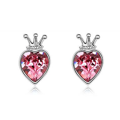 Naisten Niittikorvakorut Kristalli Yksilöllinen Love Heart Euramerican minimalistisesta Korut Käyttötarkoitus Häät Party Syntymäpäivä