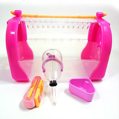 Τσιντσιλά Χάμστερ Πλαστική ύλη Φορητά Πολυλειτουργία Στολές Ηρώων Κλουβιά Πορτοκαλί Μπλε Ροζ
