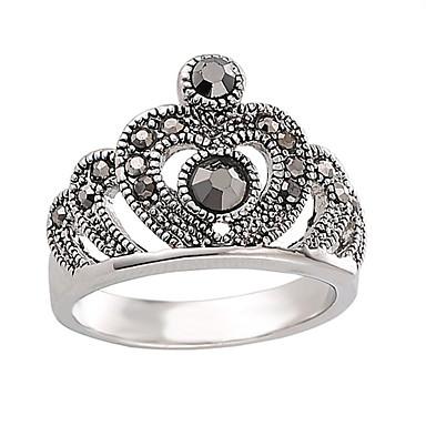 Pentru femei Inel Personalizat Modă Euramerican stil minimalist Englezesc Ștras aliaj de zinc Crown Shape Bijuterii Petrecere Ocazie