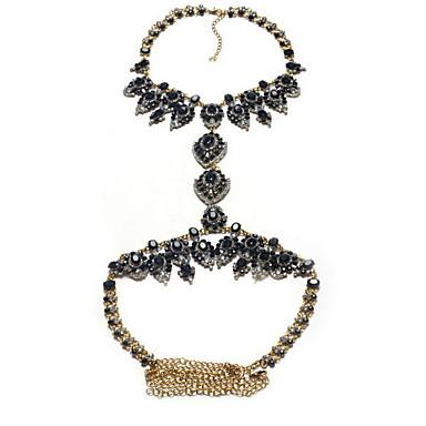 Kadın Vücut Mücevheri Vücut Zinciri / Belly Chain Doğa Moda Değerli Taş alaşım Geometric Shape Mücevher Uyumluluk Özel Anlar