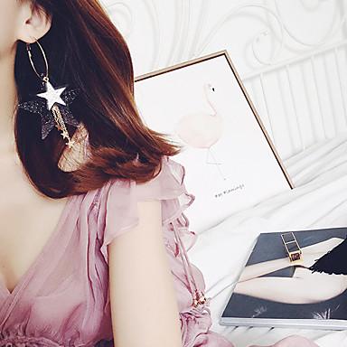 Pentru femei Cercei Picătură Bijuterii Stil Atârnat costum de bijuterii Aliaj Star Shape Bijuterii Pentru Nuntă Ocazie specială Zi de