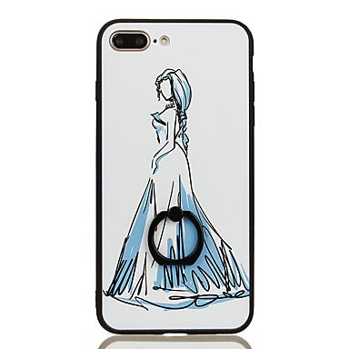 Için Yüzüklü Tutacak Temalı Pouzdro Arka Kılıf Pouzdro Seksi Kadın Sert PC için Apple iPhone 7 Plus iPhone 7