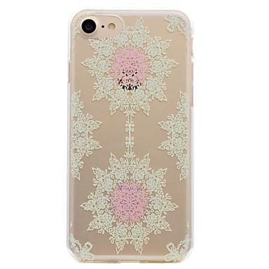 Etui Käyttötarkoitus Apple Läpinäkyvä Kuvio Takakuori Lace Printing Pehmeä TPU varten iPhone 7 Plus iPhone 7 iPhone 6s Plus iPhone 6 Plus