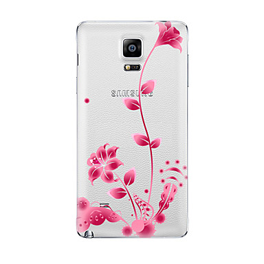 غطاء من أجل Samsung Galaxy شفاف نموذج غطاء خلفي زهور ناعم TPU إلى Note 5 Note 4 Note 3 Note 2