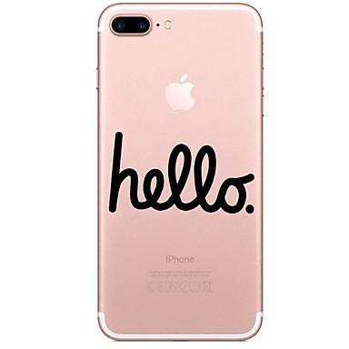 Για Διαφανής Με σχέδια tok Πίσω Κάλυμμα tok Λέξη / Φράση Μαλακή TPU για AppleiPhone 7 Plus iPhone 7 iPhone 6s Plus iPhone 6 Plus iPhone