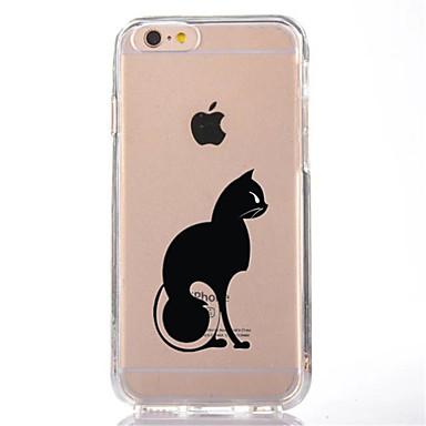 Για Διαφανής Με σχέδια tok Πίσω Κάλυμμα tok Γάτα Μαλακή TPU για AppleiPhone 7 Plus iPhone 7 iPhone 6s Plus iPhone 6 Plus iPhone 6s iPhone