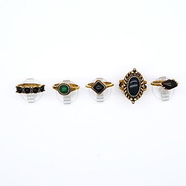 Damskie Golden Żywica Stop Geometric Shape Vintage euroamerykańskiej Impreza Codzienny Biżuteria kostiumowa