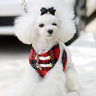 كلب أربطة متنفس الأمان سادة قماش أحمر