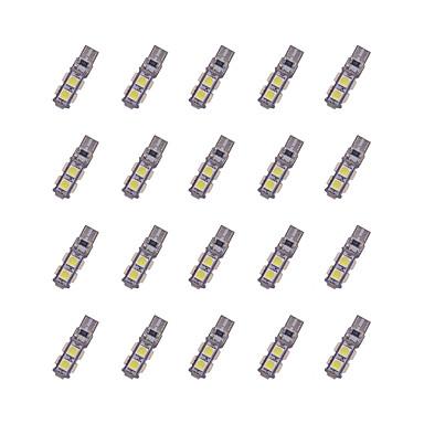 20 stuks t10 9 * 5050 smd tabula rasa decodering geleide auto gloeilamp wit licht dc12v