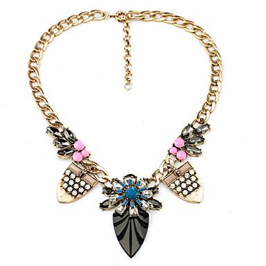 Kadın's Tellerinin Kolye Leaf Shape Kişiselleştirilmiş lüks mücevher Gökküşağı Mücevher Için Düğün 1pc